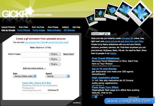 Primo sito per creare GIF animate
