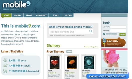 Terzo sito per scaricare sfondi e temi per cellulari