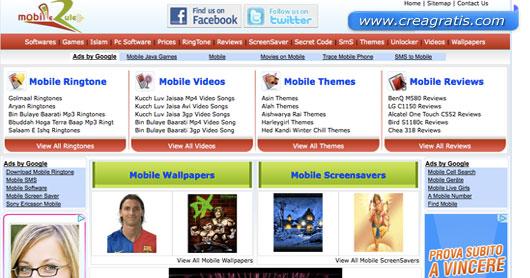 Quarto sito per scaricare suonerie gratis