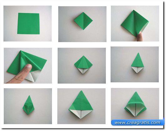 Istruzioni per fare una rana di carta