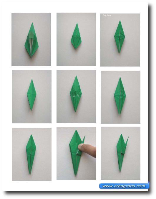 Immagini per realizzare la piega del petalo