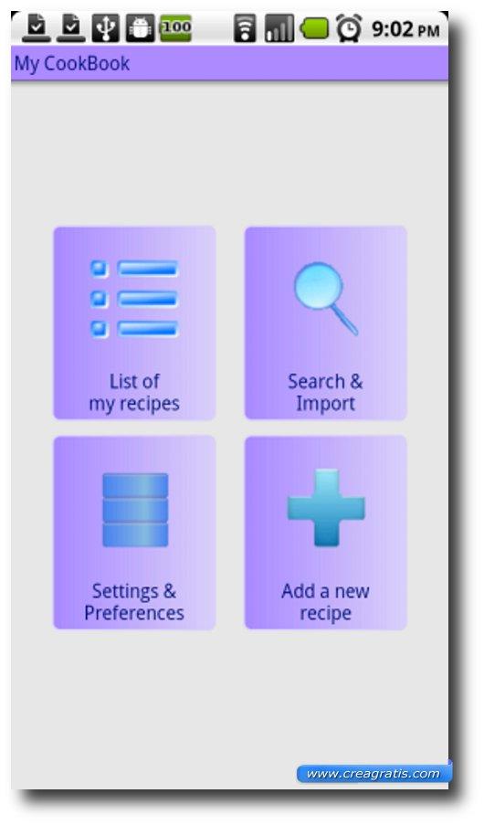 Quarta App di ricette per Android