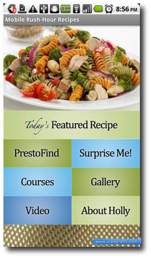 Seconda App di ricette per Android