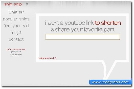 Terzo sito per tagliare video YouTube
