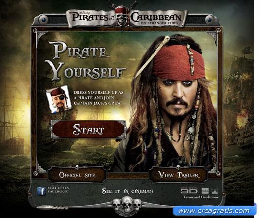 Strumento online per creare un fotomontaggio stile pirata