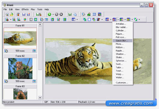 Primo software per creare GIF Animate