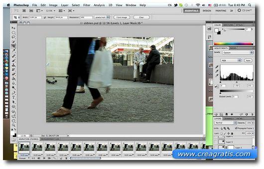 Terzo passo per creare una foto con la tecnica Cinemagraph