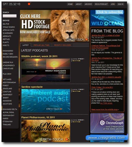 Sito per vedere immagini e documentari in HD