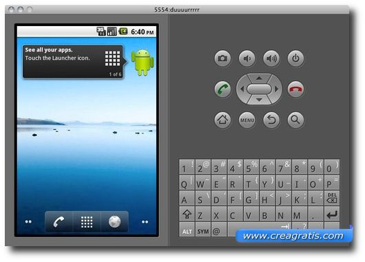 Interfaccia Emulatore Android