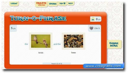 Terzo sito con giochi di parole in inglese