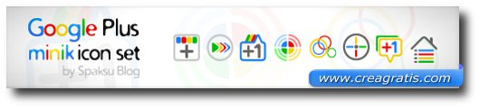 Set di icone di Google+