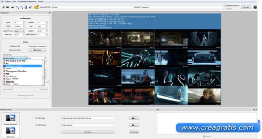 Interfaccia programma per catturare immagini da video