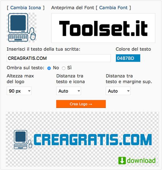 Creare un logo online su MrWebaster