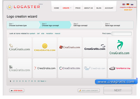 Immagine del sito Logaster