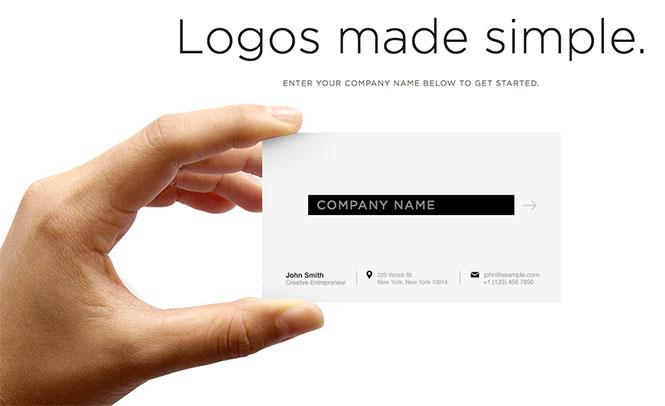 Immagine del sito Squarespace per creare un logo online