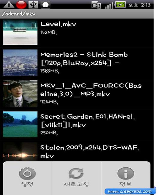 Applicazione per vedere video su Android