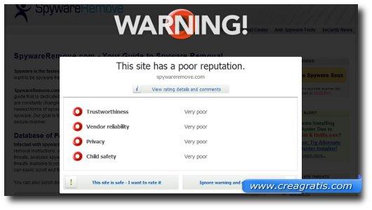 Primo suggerimento per evitare i malware