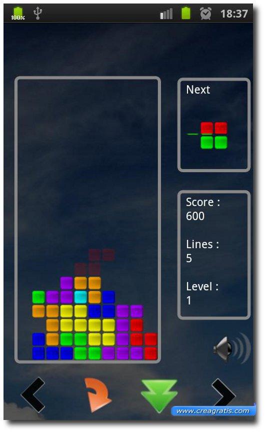 Primo gioco del Tetris per Android