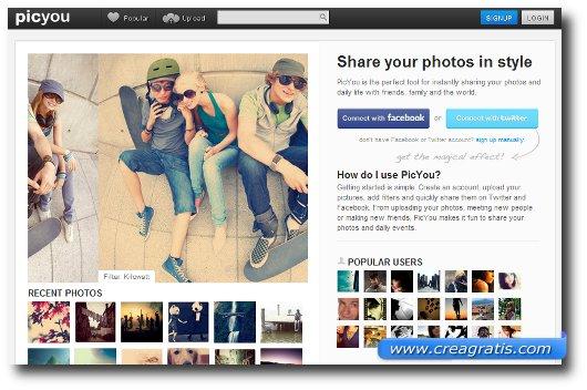 Sito per applicare filtri su foto direttamente online