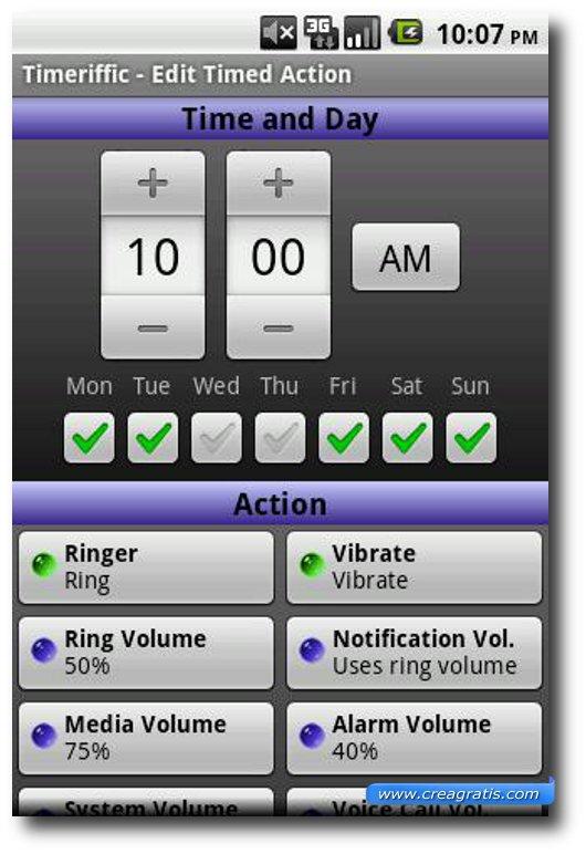 Applicazione sveglia per Android