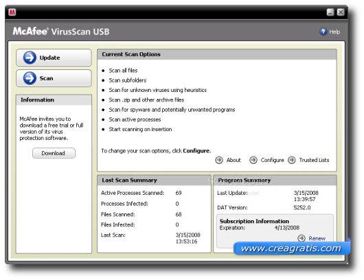 Terzo antivirus per proteggere il computer da chiavette USB infette