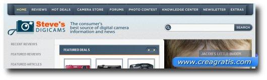 Immagine del secondo sito di recensioni di fotocamere digitali