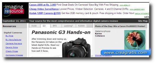 Immagine del quinto sito di recensioni di fotocamere digitali