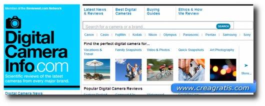 Immagine del sesto sito di recensioni di fotocamere digitali