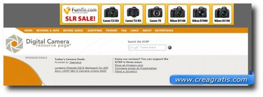 Immagine del settimo sito di recensioni di fotocamere digitali