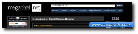 Immagine del decimo sito di recensioni di fotocamere digitali