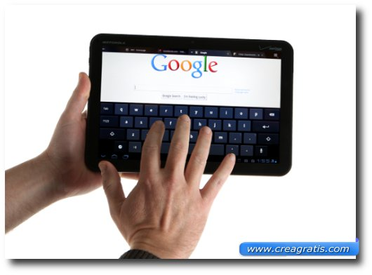 Immagine del primo tablet Android