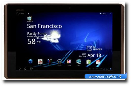 Immagine del quinto tablet Android