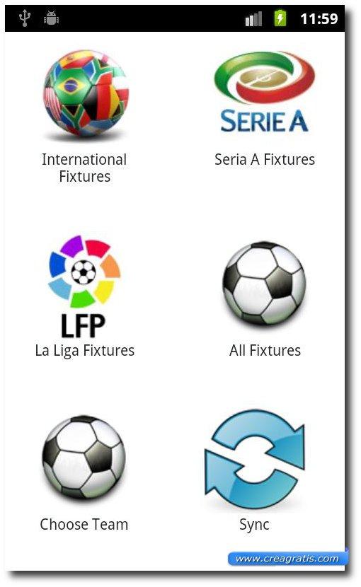 App per vedere le partite di calcio su Android