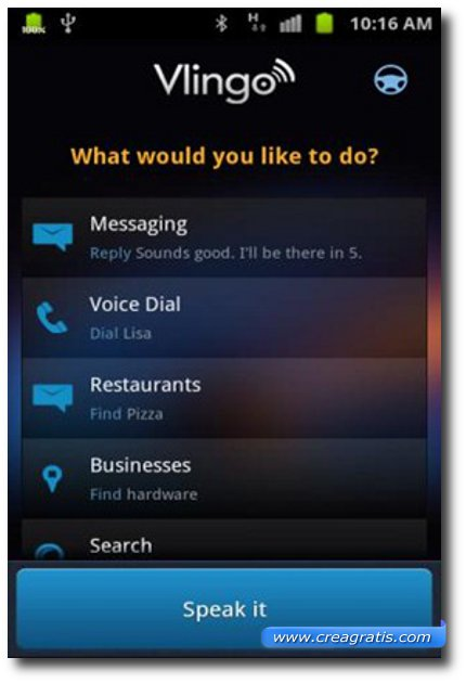 Prima applicazione come Siri per Android