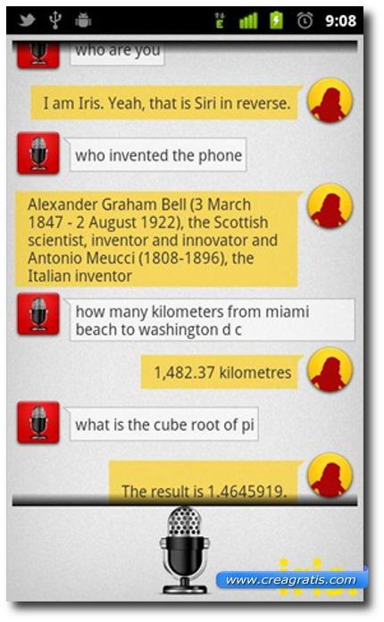 Quinta applicazione come Siri per Android