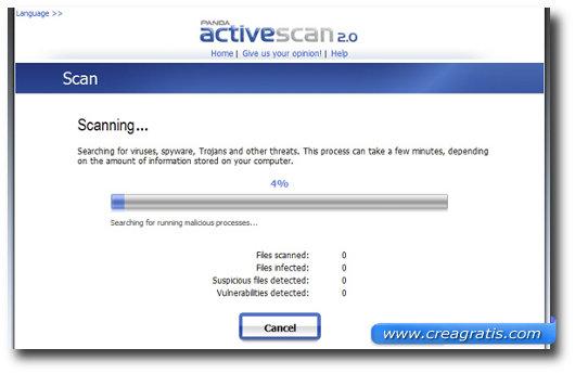 Terzo antivirus online della lista