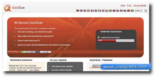 Quarto antivirus online della lista
