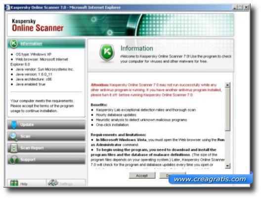 Sesto antivirus online della lista