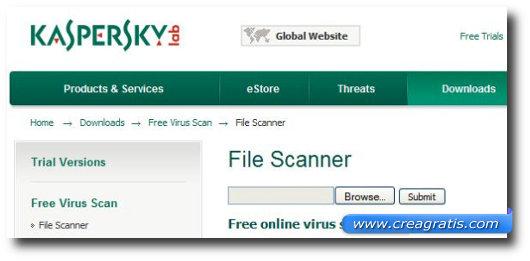 Ottavo antivirus online della lista