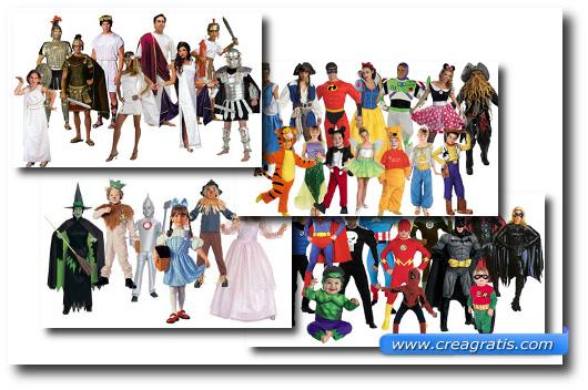 Immagini di alcuni costumi presenti sul sito Extreme Halloween