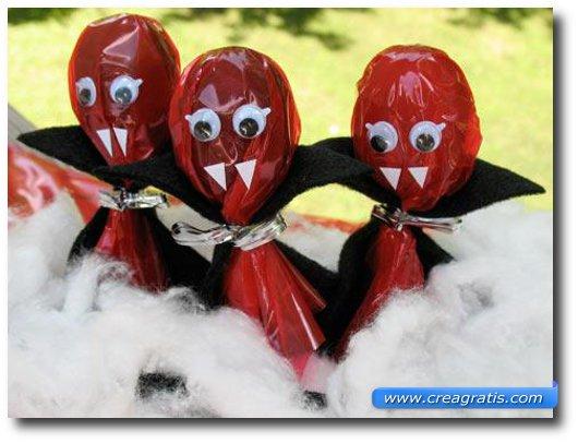 Lavoretto dei lecca lecca vampireschi per Halloween