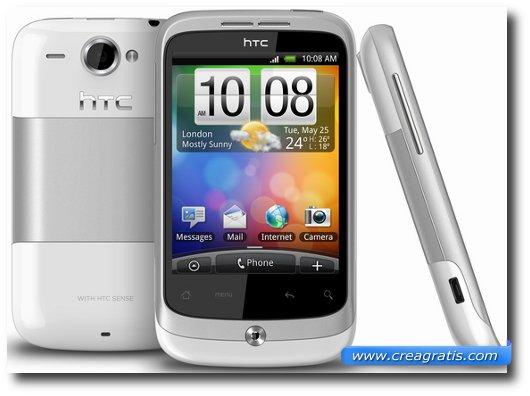 Immagine dell'HTC Wildfire, uno dei migliori smartphone HTC