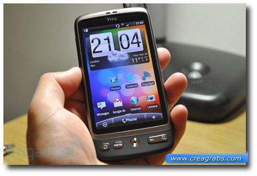 Immagine dell'HTC Desire HD, uno dei migliori smartphone HTC