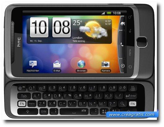 Immagine dell'HTC Desire Z, uno dei migliori smartphone HTC