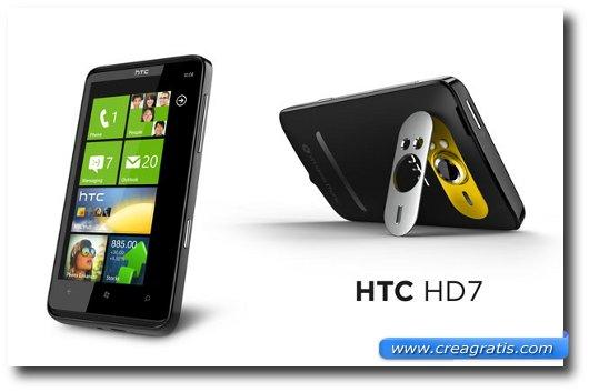 Immagine dell'HTC HD7, uno dei migliori smartphone HTC