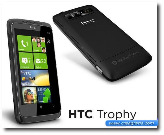 Immagine dell'HTC Trophy, uno dei migliori smartphone HTC