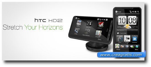 Immagine dell'HTC HD2, uno dei migliori smartphone HTC