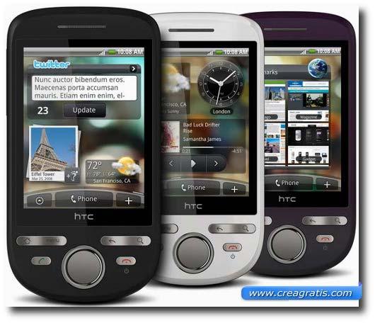 Immagine dell'HTC Tattoo, uno dei migliori smartphone HTC