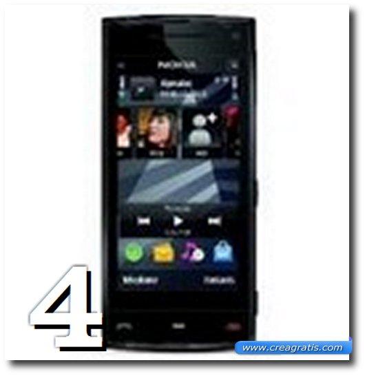 Immagine dell' X6, uno dei migliori cellulari Nokia