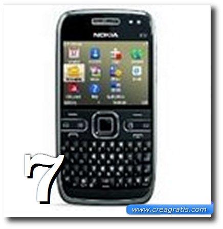 Immagine dell' E72, uno dei migliori cellulari Nokia